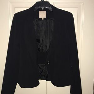 Black Blazer Jacket with one button on the front